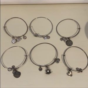 Alex and ani 6 bracelet bundle silver